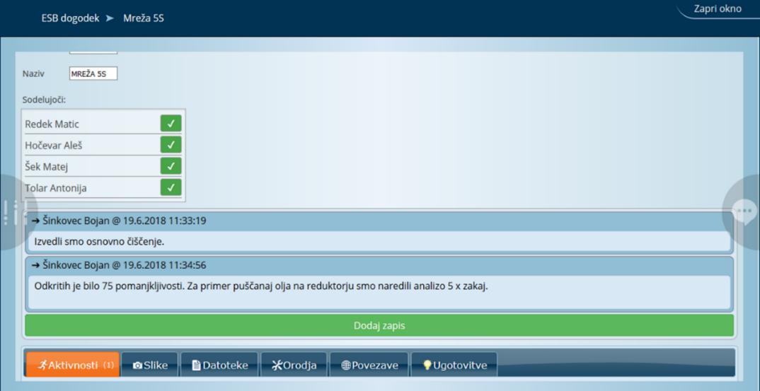 Orodje ESB omogoča vizualno upravljanje sistematičnih dogodkov in projektov
