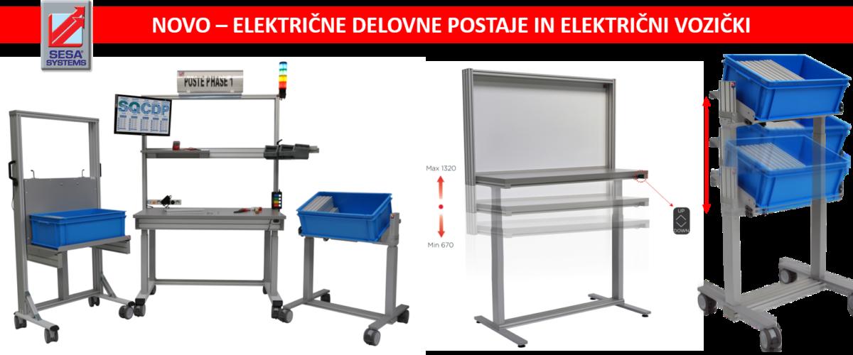 Električne delovne postaje in električni vozički